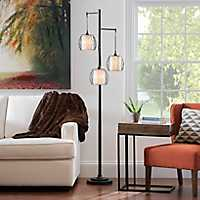 Bronze Triple-Orb Metal Floor Lamp