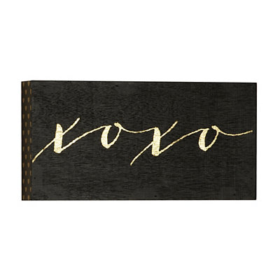 Black & Gold XOXO Wall Sign