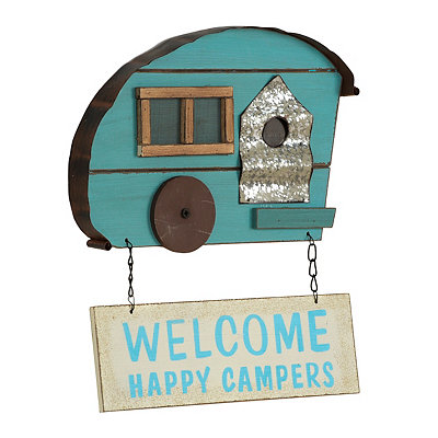 Welcome Happy Campers Wooden Plaque