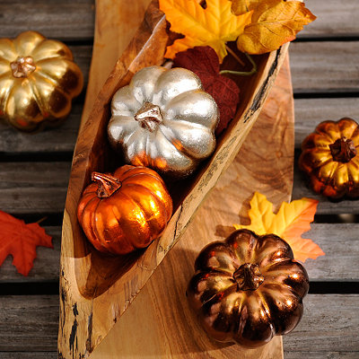 Metallic Pumpkins, Set of 5