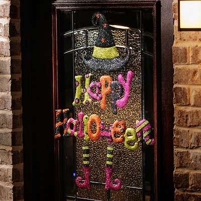 Witch Happy Halloween Hanging Sign
