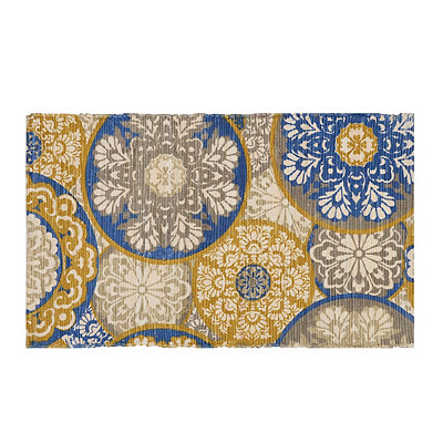 Chatham Blue and Gold Medallion Scatter Rug