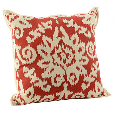 Spice Ikat Damask Flange Pillow