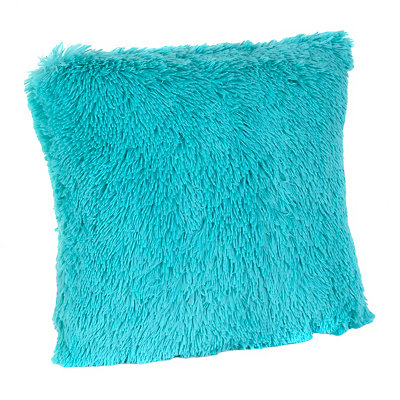 Aqua Fur Pillow