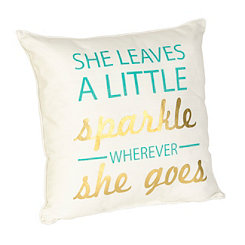 A Little Sparkle Reversible Accent Pillow