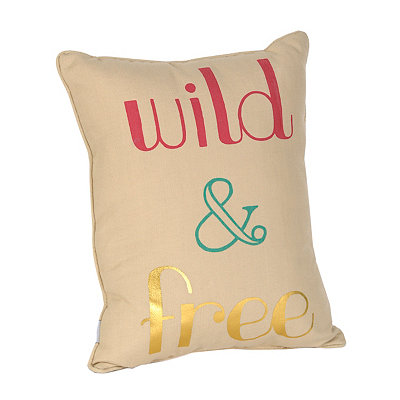 Wild and Free Reversible Accent Pillow