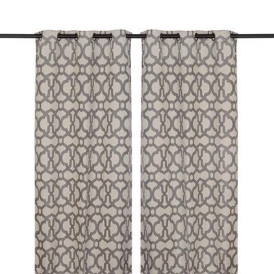 Gray Teemu Curtain Panel Set, 84 in.