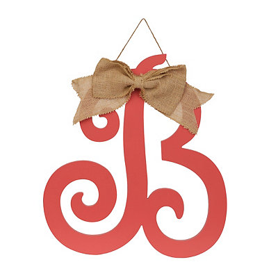 Spiced Coral Monogram B Plaque
