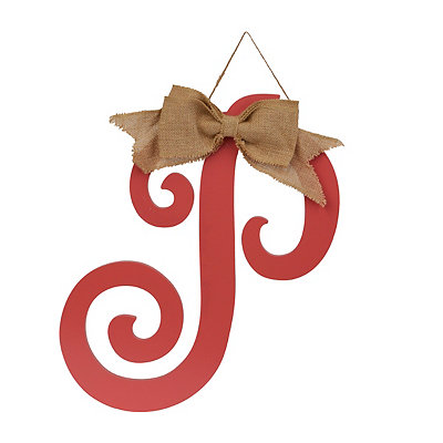 Spiced Coral Monogram P Plaque
