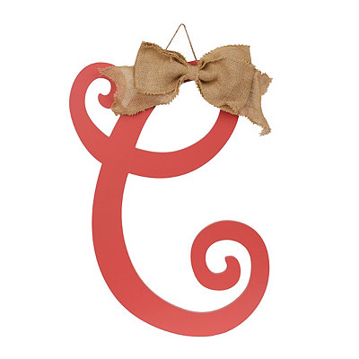 Spiced Coral Monogram C Plaque