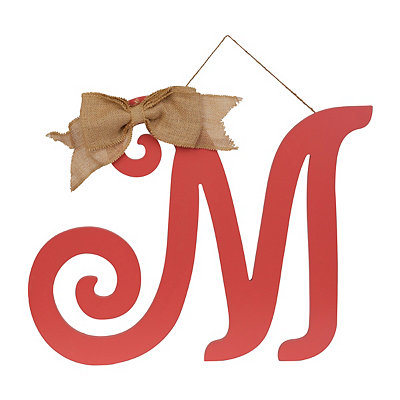 Spiced Coral Monogram M Plaque