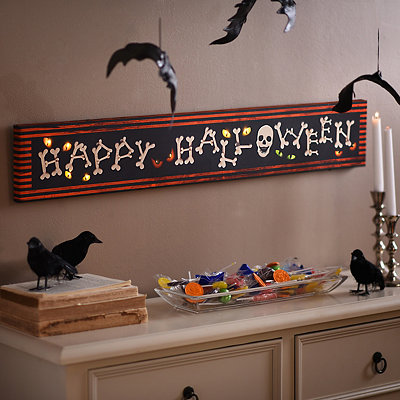 Happy Halloween LED Canvas Art Print