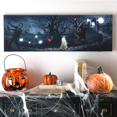 Monster Bash LED Canvas Art Print
