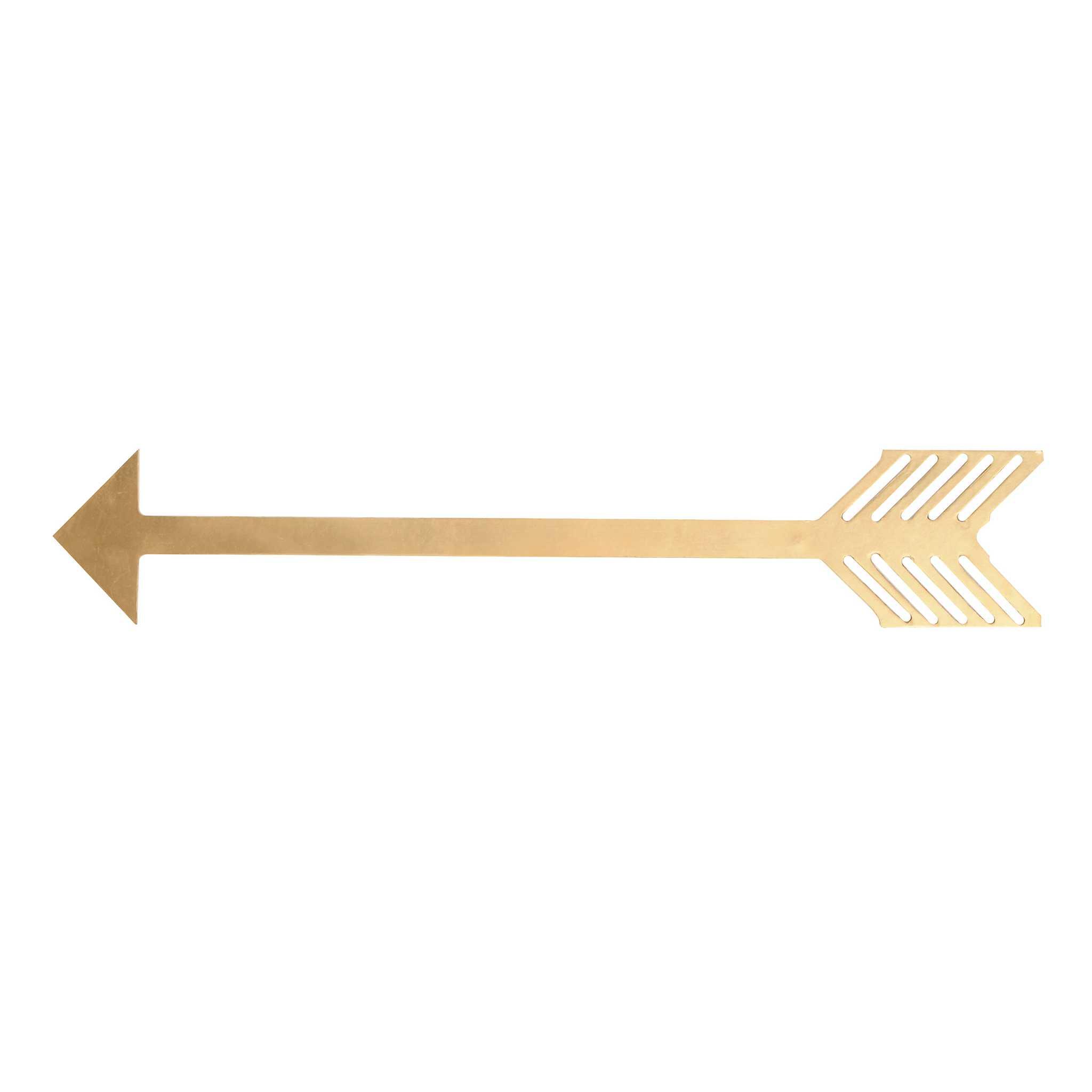 Metallic Gold Arrow Plaque | Kirklands