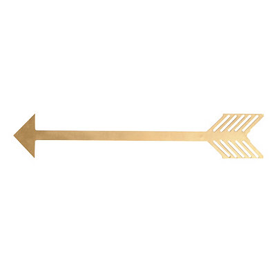 Metallic Gold Arrow Plaque