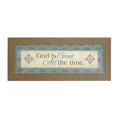 God is Good Framed Art Print