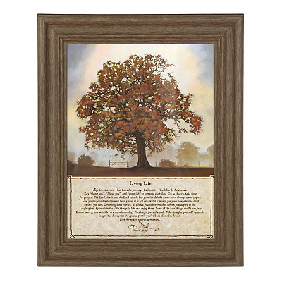Living Life Framed Art Print