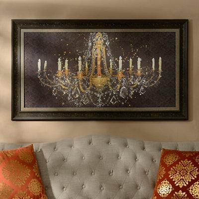 Jeweled Gold Chandelier Framed Art Print