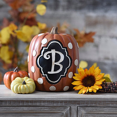 Polka Dot Monogram B Pumpkin