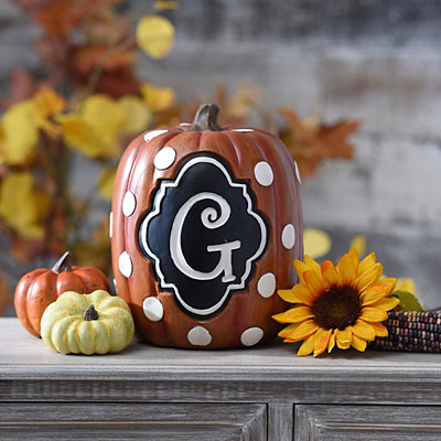 Polka Dot Monogram G Pumpkin