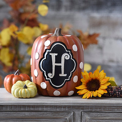 Polka Dot Monogram H Pumpkin