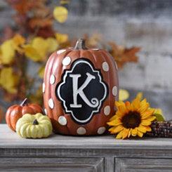 Polka Dot Monogram K Pumpkin