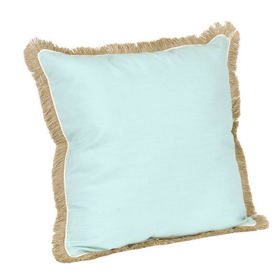 Blue Dean Fringe Pillow