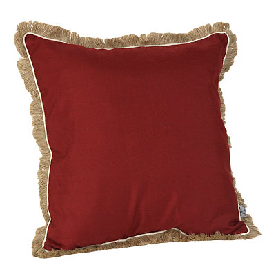 Red Dean Fringe Pillow