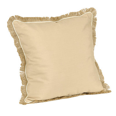 Natural Dean Fringe Pillow