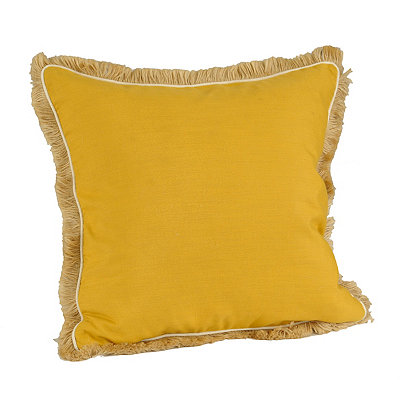 Yellow Dean Fringe Pillow