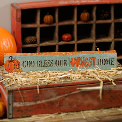 Bless Our Harvest Home Word Block