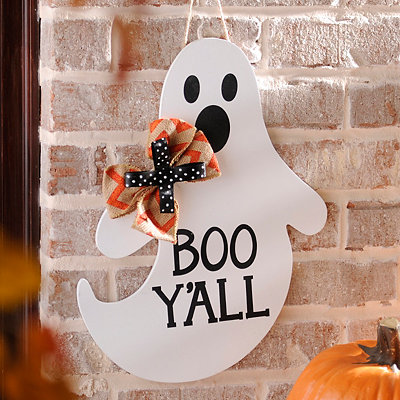 Boo Y'all Ghost Wall Sign