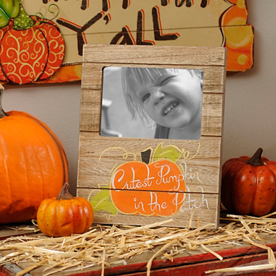 Cutest Pumpkin Wood Plank Picture Frame, 4x6