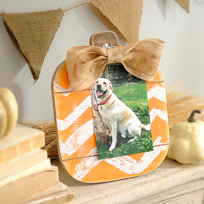 Chevron Pumpkin Picture Holder