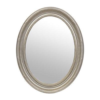 Harrison Silver Framed Oval Mirror, 26 x 33.5