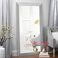 Textured Silver Framed Mirror, 37.5x67.5 in.