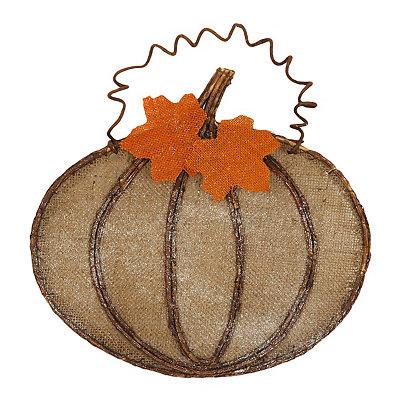 Burlap Pumpkin Wall Hanger