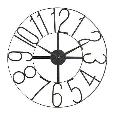 Distressed Black Open Face Clock
