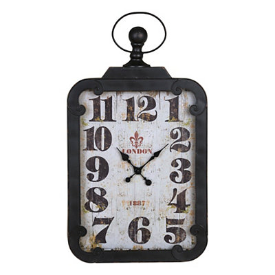 Margie Distressed Black Wall Clock