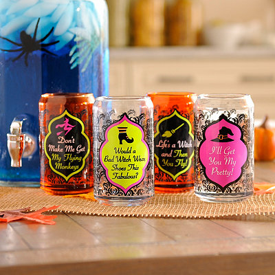 Bewitching Can Glasses, Set of 4