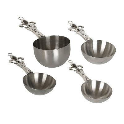 Metal Fleur-de-Lis Measuring Cups