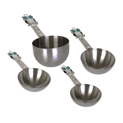 Metal Owl Measuring Cups, Set of 4