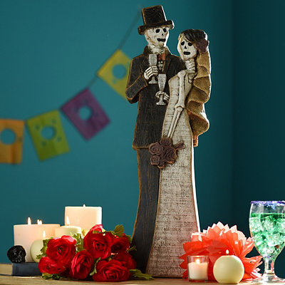 Day of the Dead Wedding Couple Statue