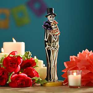 Day of the Dead Skeleton Couple Statue