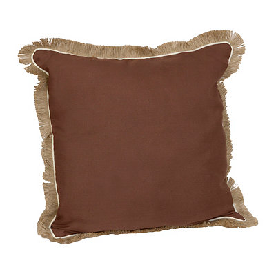 Brown Dean Fringe Pillow