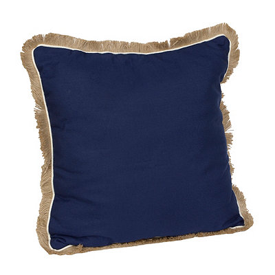 Navy Dean Fringe Pillow