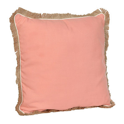 Coral Dean Fringe Pillow