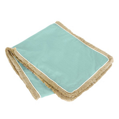 Blue Dean Fringe Table Runner