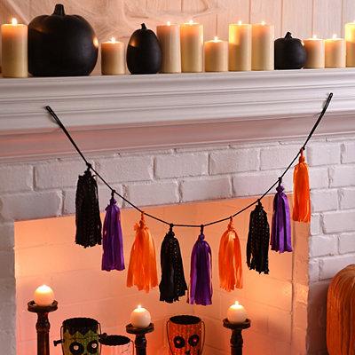 Halloween Tassel Banner
