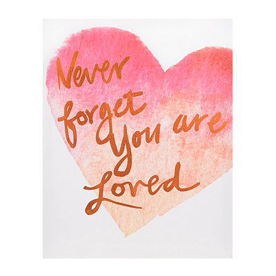 You are Loved Canvas Art Print